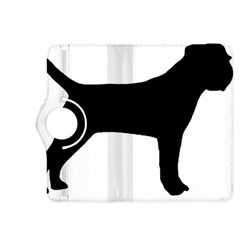 Border Terrier Silhouette Kindle Fire HDX 8.9  Flip 360 Case