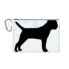Border Terrier Silhouette Canvas Cosmetic Bag (M)