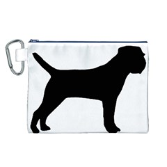 Border Terrier Silhouette Canvas Cosmetic Bag (L)