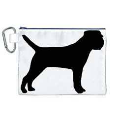 Border Terrier Silhouette Canvas Cosmetic Bag (XL)
