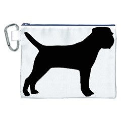 Border Terrier Silhouette Canvas Cosmetic Bag (XXL)