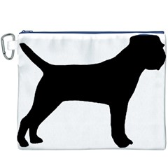 Border Terrier Silhouette Canvas Cosmetic Bag (XXXL)
