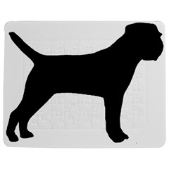 Border Terrier Silhouette Jigsaw Puzzle Photo Stand (Rectangular)