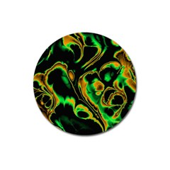 Glowing Fractal A Magnet 3  (Round)