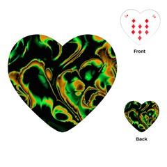 Glowing Fractal A Playing Cards (Heart)