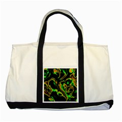 Glowing Fractal A Two Tone Tote Bag