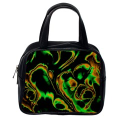 Glowing Fractal A Classic Handbags (One Side)