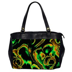 Glowing Fractal A Office Handbags (2 Sides)