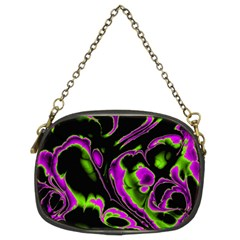 Glowing Fractal B Chain Purses (Two Sides)