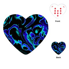 Glowing Fractal C Playing Cards (Heart)
