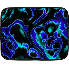 Glowing Fractal C Fleece Blanket (Mini)