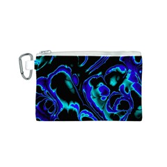 Glowing Fractal C Canvas Cosmetic Bag (S)