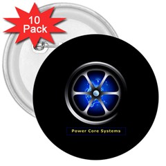Power Core 3  Button (10 Pack)