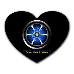 Power Core Heart Mousepads