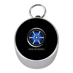 Power core Mini Silver Compasses