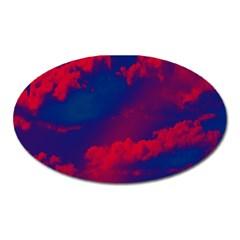 Sky pattern Oval Magnet