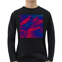 Sky pattern Long Sleeve Dark T-Shirts