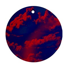 Sky pattern Round Ornament (Two Sides)