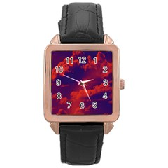 Sky pattern Rose Gold Leather Watch