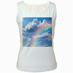 Sky pattern Women s White Tank Top