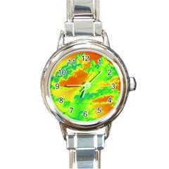 Sky pattern Round Italian Charm Watch