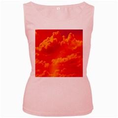 Sky pattern Women s Pink Tank Top