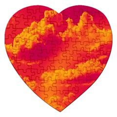 Sky pattern Jigsaw Puzzle (Heart)