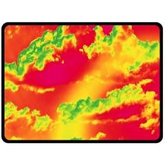 Sky pattern Fleece Blanket (Large)