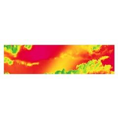 Sky pattern Satin Scarf (Oblong)