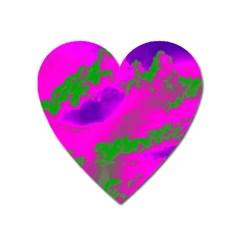 Sky pattern Heart Magnet