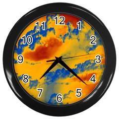 Sky pattern Wall Clocks (Black)