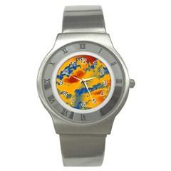 Sky pattern Stainless Steel Watch