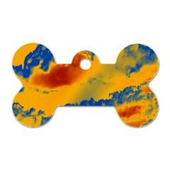 Sky pattern Dog Tag Bone (One Side)