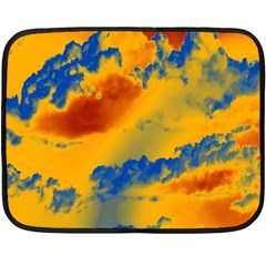 Sky pattern Double Sided Fleece Blanket (Mini)
