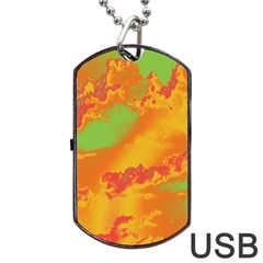 Sky pattern Dog Tag USB Flash (Two Sides)