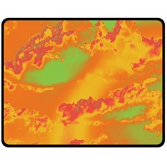 Sky pattern Double Sided Fleece Blanket (Medium)