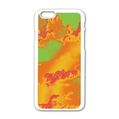 Sky pattern Apple iPhone 6/6S White Enamel Case