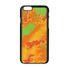Sky pattern Apple iPhone 6/6S Black Enamel Case