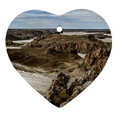 Miradores De Darwin, Santa Cruz Argentina Heart Ornament (Two Sides)