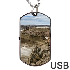 Miradores De Darwin, Santa Cruz Argentina Dog Tag USB Flash (Two Sides)