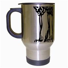 National Emblem of India  Travel Mug (Silver Gray)