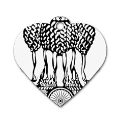 National Emblem of India  Dog Tag Heart (Two Sides)