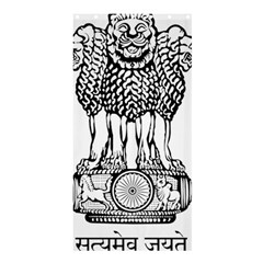 National Emblem of India  Shower Curtain 36  x 72  (Stall)