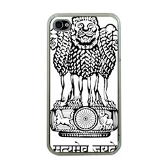 National Emblem of India  Apple iPhone 4 Case (Clear)