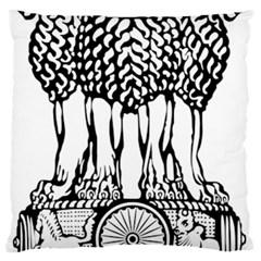 National Emblem of India  Large Cushion Case (One Side)