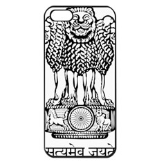 National Emblem of India  Apple iPhone 5 Seamless Case (Black)