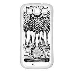 National Emblem of India  Samsung Galaxy S3 Back Case (White)