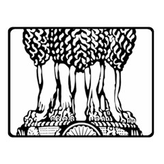 National Emblem of India  Double Sided Fleece Blanket (Small)