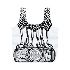 National Emblem of India  Full Print Recycle Bags (M)