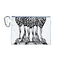 National Emblem of India  Canvas Cosmetic Bag (M)